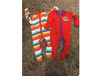 2 Mothercare Sleepsuits. 3-6 months.