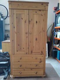 Pine wardrobe suitable for nursery