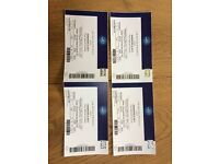 4 tickets to Kiss World concert 02 arena 31 may 18.30
