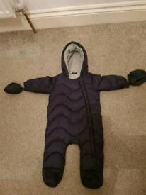 Dark Blue All-in-one Coat 3-6 months