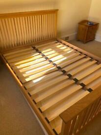5ft oak bed frame
