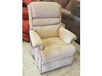 Cream Fabric Electric Riser Armchair
