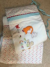 Mothercare Nursery Curtains and Cot Bumper
