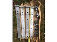 2 Pairs Galvanised Heavy Reversible Hinges NEW BOXED