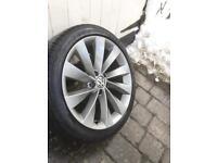 "Vw scirocco/turbine alloy wheels 18"""