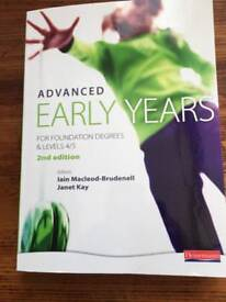 Advanced Early Years for foundation degrees 4/5