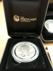 Silver coin set of 5 Australia mint