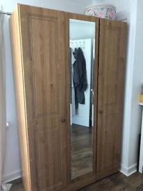 Triple wardrobe with mirror (double & single)