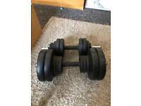 Gym adjustable free weights - dumbbells