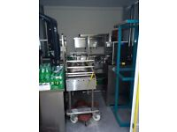 Commercial Catering equipment Prep tables ice Machines stainless steel sinks gas charcoal grills