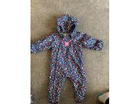 Waterproof Splash Suit Baby Girl 9-12months