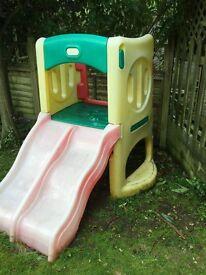 climbing frame double slide £45
