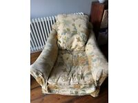 Vintage armchair available - free to good home