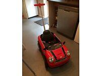 Mini Cooper, push along. Ride on child car