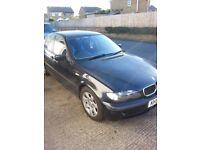 BLACK BMW 318I SE , E 46.