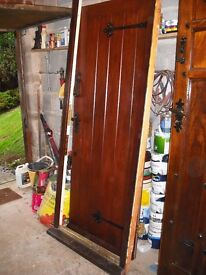 Solid oak exterior door and frame. With furniture refurbished.