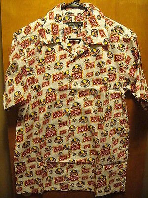 SCHLITZ BREWING Milwaukee VINTAGE 70s RARE Wolfmark NEW LRG Beer Hawaiian Shirt