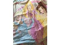 Disney princess single duvet & matching curtains