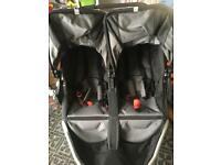 Nearly new bob revolution double buggy