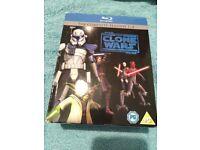 Star Wars Clone Wars Seasons 1-4 - Blu Ray - £19