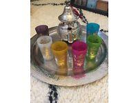 Moroccan tea cups- new
