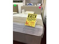 King size 2 drawer divan + free head board + free delivery.