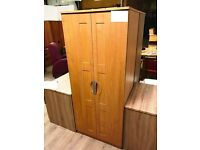 Light Oak Veneered Double Door Cupboard and Chest of Drawers