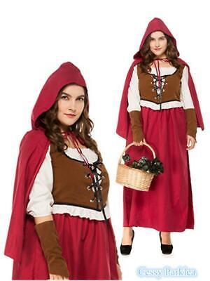 Plus Size Little Red Riding Hood Oktoberfest Halloween Fairy Tales Costume](Halloween Fairy Tales Costumes)