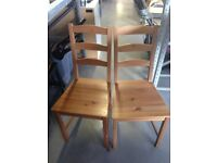 Set of 2 x IKEA JOKKMOKK Chairs - Good condition - Antique Pine