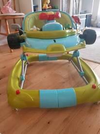 My child F1 car baby walker