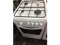White indesit 50cm gas cooker grill & oven good condition with guarantee