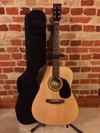 Encore W255 Acoustic Guitar with Strap, Carry Bag & Stand