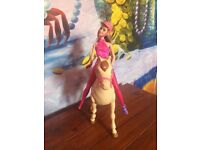 Barbie and walking horse