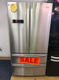 CAPLE FROST FREE AMERICAN STYLE FRIDGE FREEZER IN SHINY SILIVER