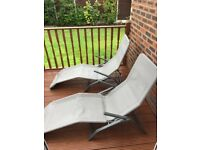 Two Garden chairs / sun loungers x 2