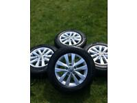 "16"" 17"" 18"" VW Transporter T6 T5 Alloy Wheels Hankook Tyres Highline Sportline"