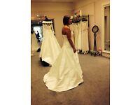 So Sassi silk wedding dress for sale