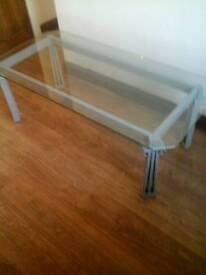 GLASS /METAL COFFEE TABLE