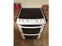 zanussi ceramic ZKC6000W electric double oven fan assisted