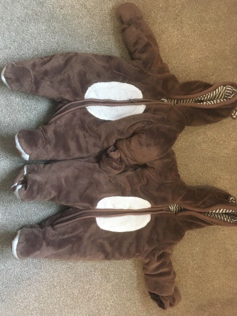 ef41c6aa1 2 x mothercare new baby snow suits twins
