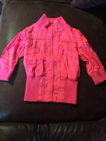 Pink cropped jacket new look size 8