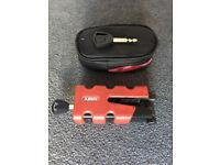 ABUS Disk lock Granit Sledg 77 red and Granit City Chain lock X-Plus 1060 85cm