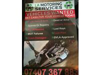 ALL CARS BOUGHT FOR CASH WE BUY ANY CAR SCRAP MY VEHICLE