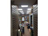 General shop-fitting/shelving /suspended ceiling/led lights/counters/epos