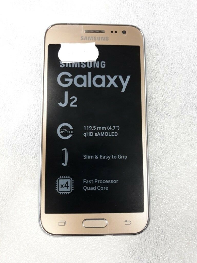 Samsung Galaxy J2 Gold Unlocked To All Networks Brand New In