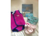 Baby/toddler girl swimming bottoms and warm snug