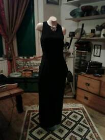 "BEAUTIFUL LONG BLACK EVENING DRESS ""STICKY FINGERS"" SIZE 12. £50 NO TEXTS PLEASE"