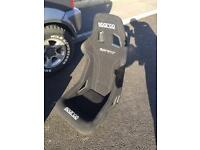 Sparco sprint bucket seat, standard size.