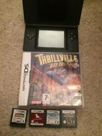 Black ds lite and games