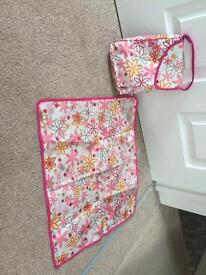 Baby change pouch and mat.